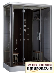 Atlasinternational DZ956F8 Blk Ariel Platinum Steam Shower