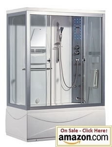 ARIEL WS-905 Jetted Steam Shower with WhirlpoolBathtub
